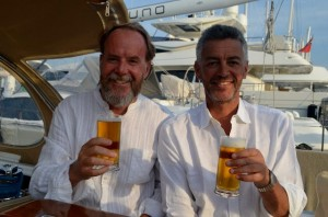 Charlie and Tom in Palma at the end of the week