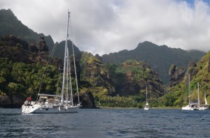The beautiful bay of Fatu Hiva