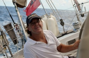 Tom on the helm