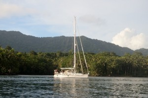 Adina anchored near Sua island