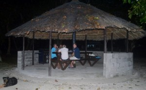 Sun downers with Noel and Terry in Liapari