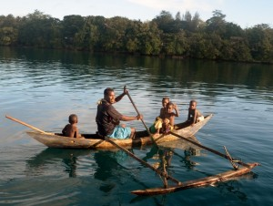 Outriggers are used in PNG
