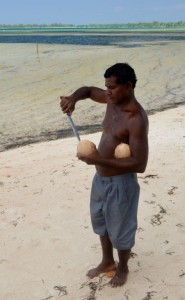 Michael the ward councillor opens up drinking coconuts