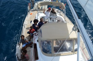 Sailing with Oscar, Justin and his family