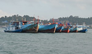 Fishing boats - our neighbours in Sorong