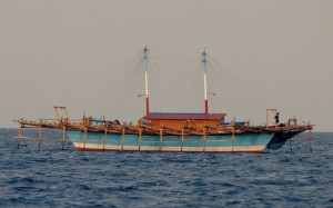 A Fish Aggregation Device (FAD) - Indonesians love them