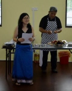 The lovely Christina opens Sarang Cookery - great fun!