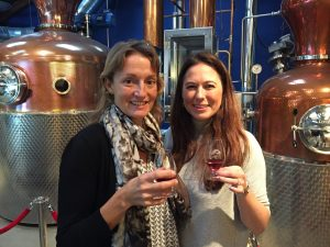 Susie and Shelly sipping Sipsmith - a very fine gin.